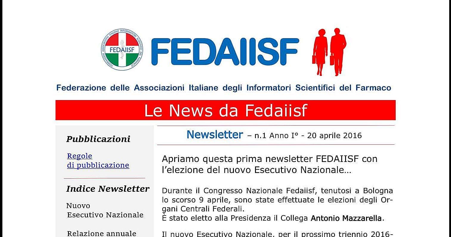 Nuova iniziativa per gli iscritti: La News Letter Fedaiisf
