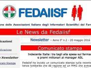In uscita la News Letter Fedaiisf n.2