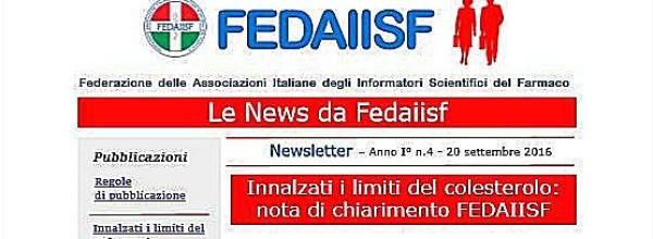 News Letter Fedaiisf n. 4. Nuova edizione in esclusiva per gli associati.