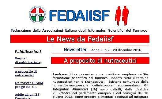 Fedaiisf. La Newsletter n. 7 in esclusiva per gli iscritti