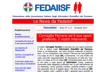 Newsletter Fedaiisf n. 11 in distribuzione agli associati