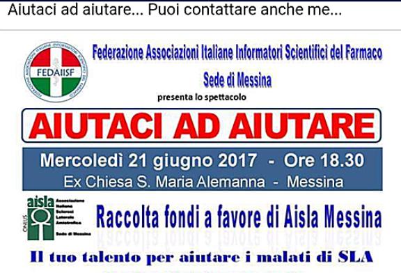 Messina. La Sez. Fedaiisf ha organizzato un evento per aiutare i malati di Sla