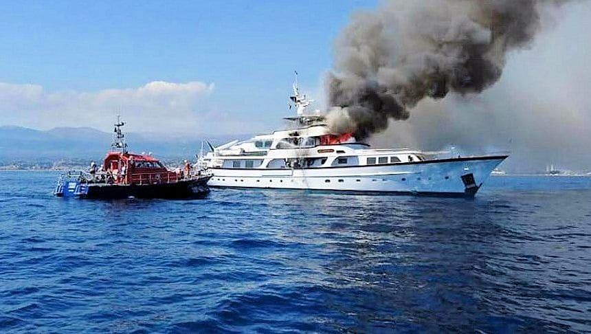 Affondato la yacht di Diana Bracco