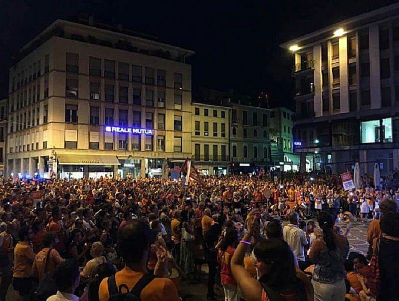 Treviso, più di 2.000 in corteo contro i vaccini obbligatori