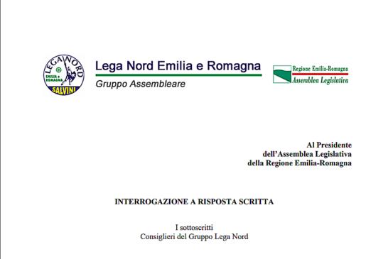 Interrogazione L.N. alla Giunta Emilia Romagna sul regolamento ISF