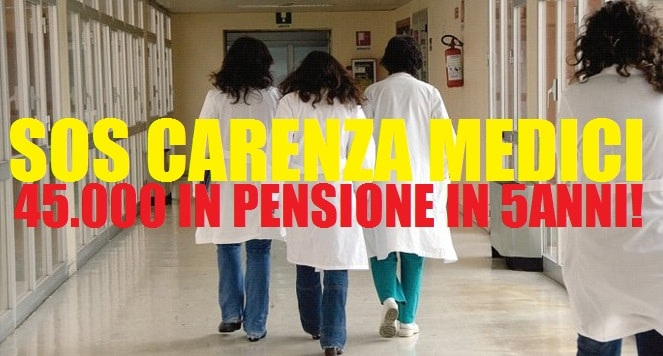SOS medici, 45mila in pensione in 5 anni – Meno 80mila al 2028