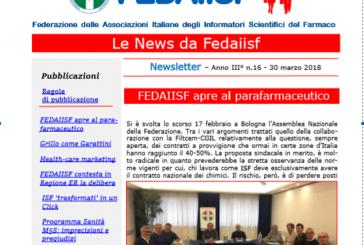 In distribuzione la News Letter Fedaiisf n.16