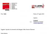 Cardinali (Filctem). Risposta al commento del delegato Uiltec Antonio Giammei