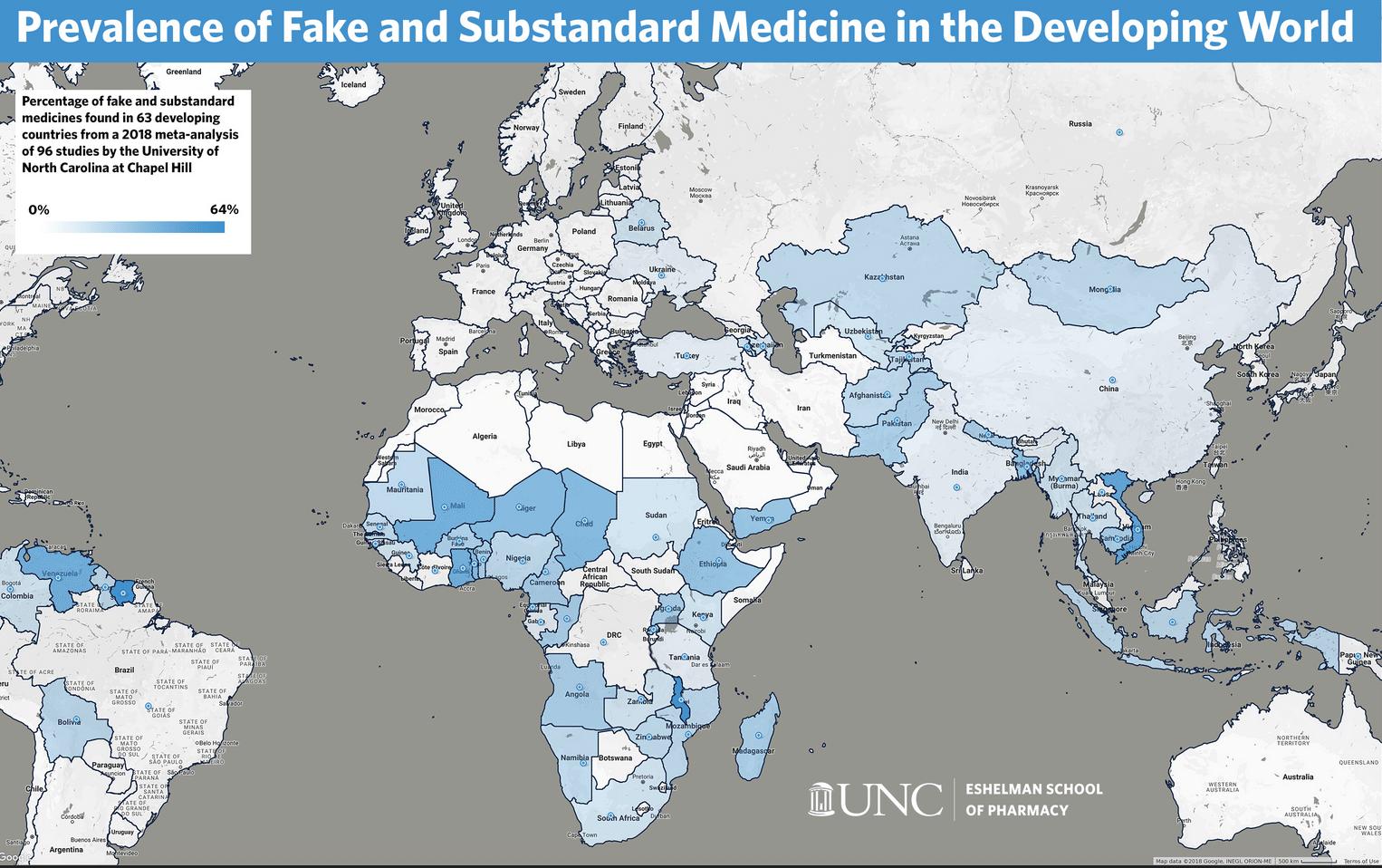 Farmaci falsi e scadenti: cresce diffusione nei paesi in via di sviluppo