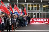 Licenziamenti Sanofi. Grande partecipazione al presidio davanti a Assolombarda