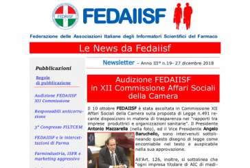In distribuzione agli iscritti il n. 19 di Fedaiisf News