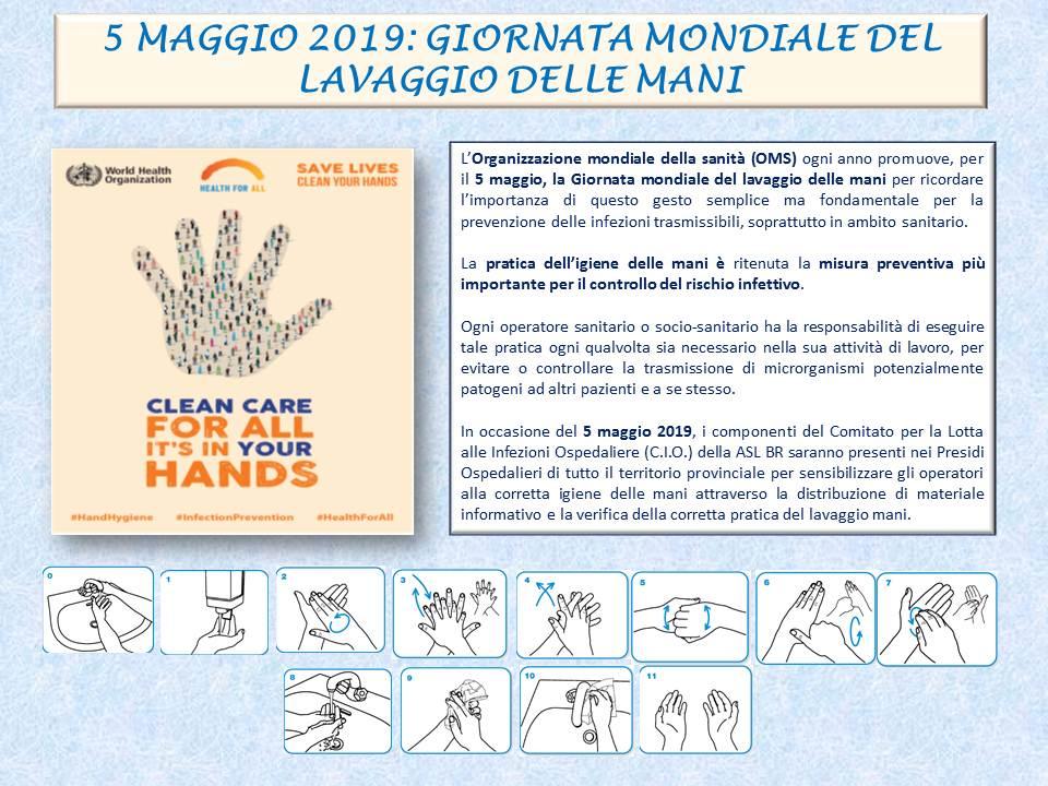 Giornata mondiale del lavaggio delle mani, al via indagine OMS nelle strtture sanitarie