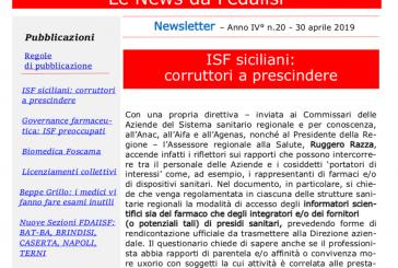 Fedaiisf. In distribuzione la News Letter n.20 agli iscritti