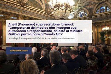 """Anelli (Fnomceo) su prescrizione farmaci: """"Competenza del medico che impegna sua autonomia e responsabilità, chiesto al Ministro Grillo di partecipare al Tavolo Aifa. Replica e controreplica Bartolazzi Fimmg"""
