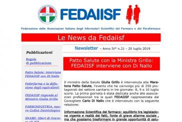In distribuzione la Newsletter Fedaiisf n. 21
