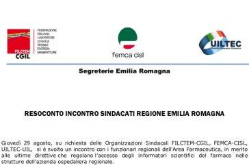 Incontro Sindacati Regione Emilia Romagna sul