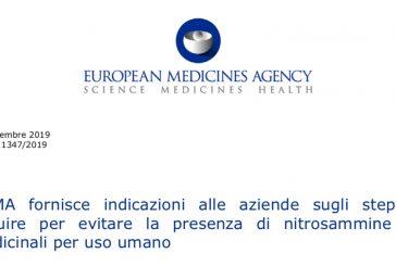 L'EMA fornisce indicazioni alle aziende sugli step da seguire per evitare la presenza di nitrosammine nei medicinali per uso umano. N.d.R.