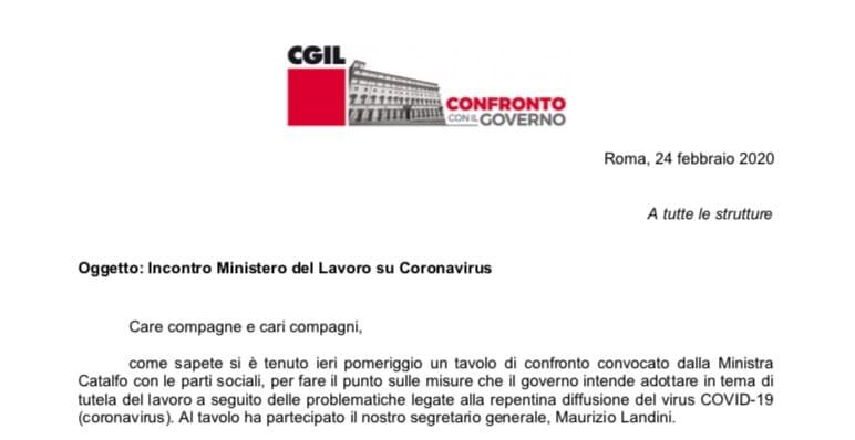 Coronavirus. Incontro al Ministero del Lavoro coi Sindacati. Misure per lavoratori comprese le Partite IVA