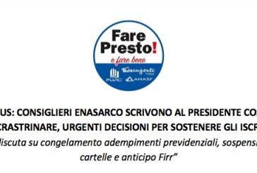 Consiglieri a Enasarco: si congelino adempimenti previdenziali, si sospendano i pagamenti delle cartelle