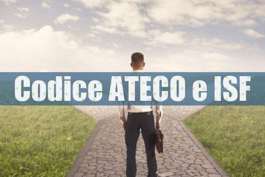 ISTAT ci comunica: Codice ATECO per ISF