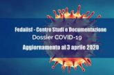 Centro studi Fedaiisf. Dossier COVID-19: aggiornamento al 3 aprile 2020