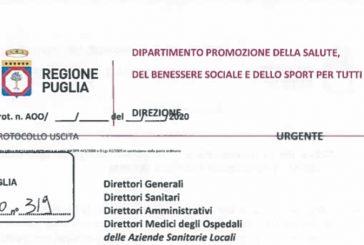 Emergenza Covid Puglia. Prororogate le norme restrittive a data da destinarsi, compresa l'attività ISF
