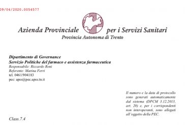 Provincia autonoma di Trento: sospensione delle visite da parte degli ISF prorogata fino al 3 giugno 2020