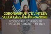 Le banche pagheranno l'anticipo della CIG coronavirus