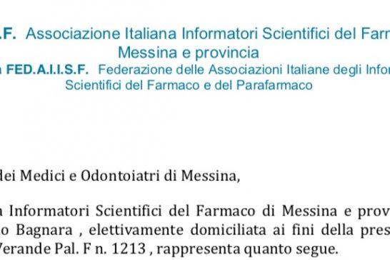 AIISF Messina, Federata Fedaiisf. Lettera a OMCeO: