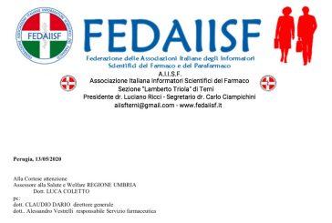 Le Sezioni AIISF umbre scrivono all'assessore regionale. Linee guida concordate per tornare al lavoro
