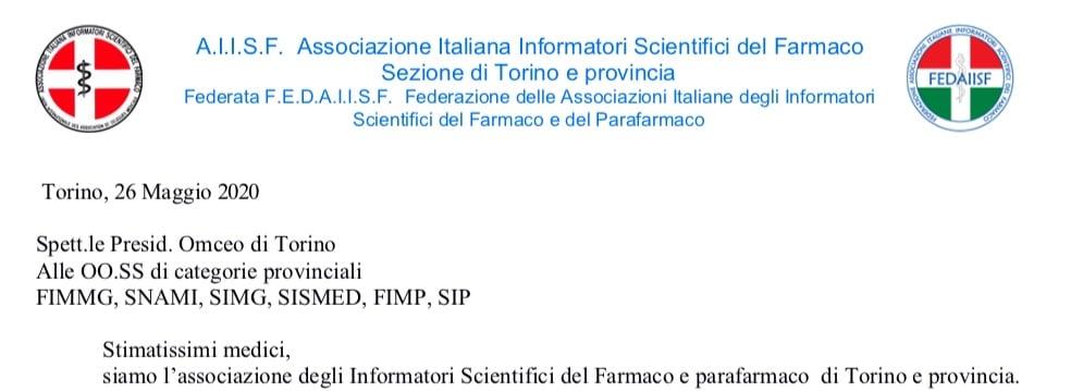 """Sez. AIISF Torino, Federata Fedaiisf, ai medici: """"riavviare attività ISF in modo ordinato e condiviso con tutte le organizzazioni di categoria"""""""