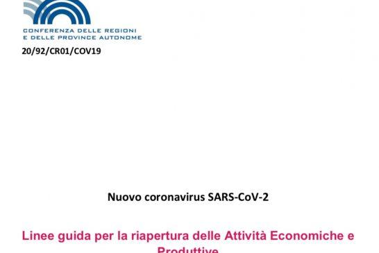 Conferenza Stato Regioni. Linee Guida per la ripresa dell'attività ISF: privilegiare attività da remoto, di presenza previo appuntamento concordato