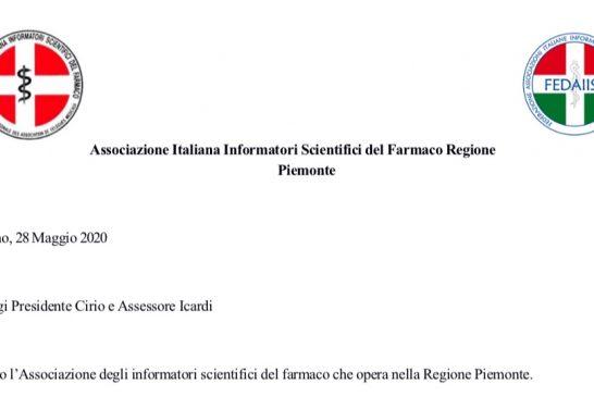 Fedaiisf Piemonte. Lettera alla regione: