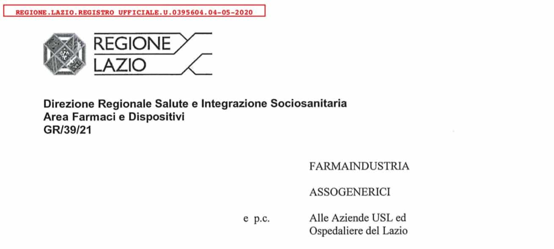Regione Lazio. Ufficialmente protocollato il provvedimento di sospensione per tutto maggio attività ISF