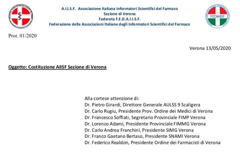 Verona. La Sezione AIISF scrive alle autorità sanitarie. Pronti a riprendere l'attività con le garanzie massime di sicurezza