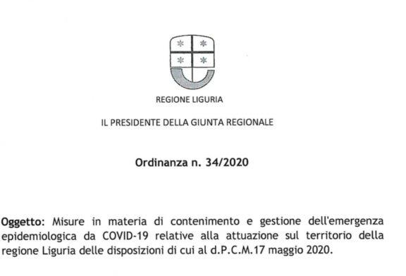 Liguria. Ripresa attività ISF dal 26 maggio secondo le linee guida Conferenza delle Regioni