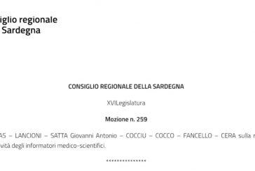 Sardegna. Mozione in Consiglio Regionale. La Regione predisponga un piano per la ripresa dell'attività degli ISF