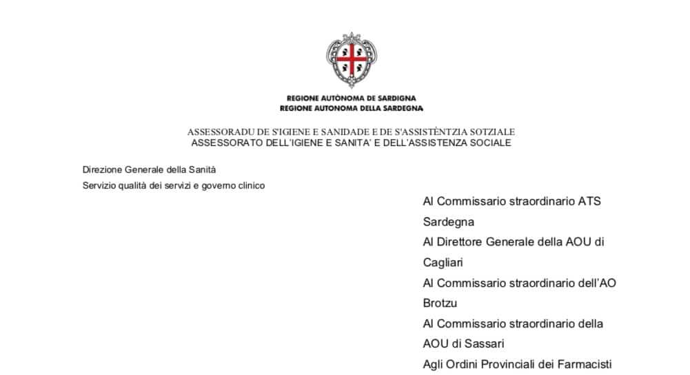 Sardegna. Il documento di proroga attività ISF al 31 maggio