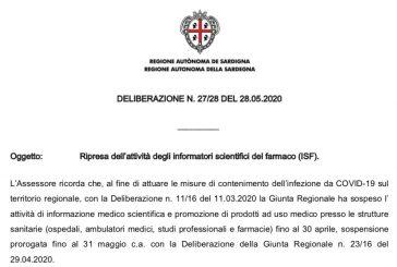 Regione Sardegna. Ripresa attività ISF previo appuntamento concordato