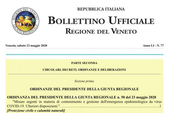 Veneto. Dal 25 maggio ripresa attività ISF secondo linee guida Conferenza Stato Regioni