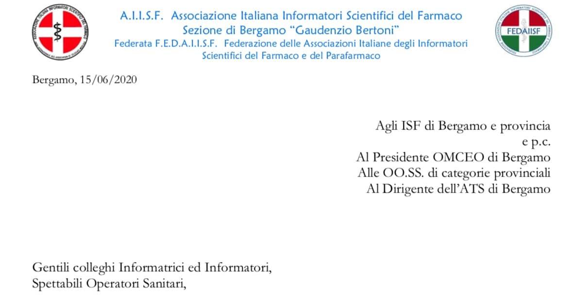 """AIISF Bergamo. Proposta agli ISF e alle autorità sanitarie di """"Best Practices"""" per la tutela dei pazienti, degli operatori sanitari e gli ISF"""