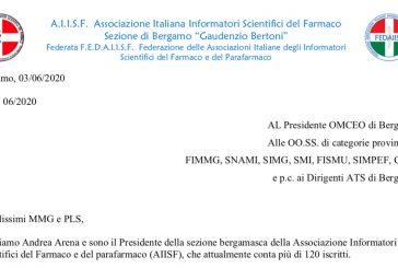 Sez. AIISF Bergamo. Lettera ai medici con questionario per condividere le modalità di ripresa attività di informazione scientifica