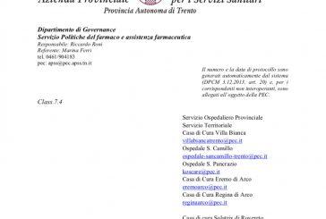 APSS Trento. L'operatività per l'attività degli ISF