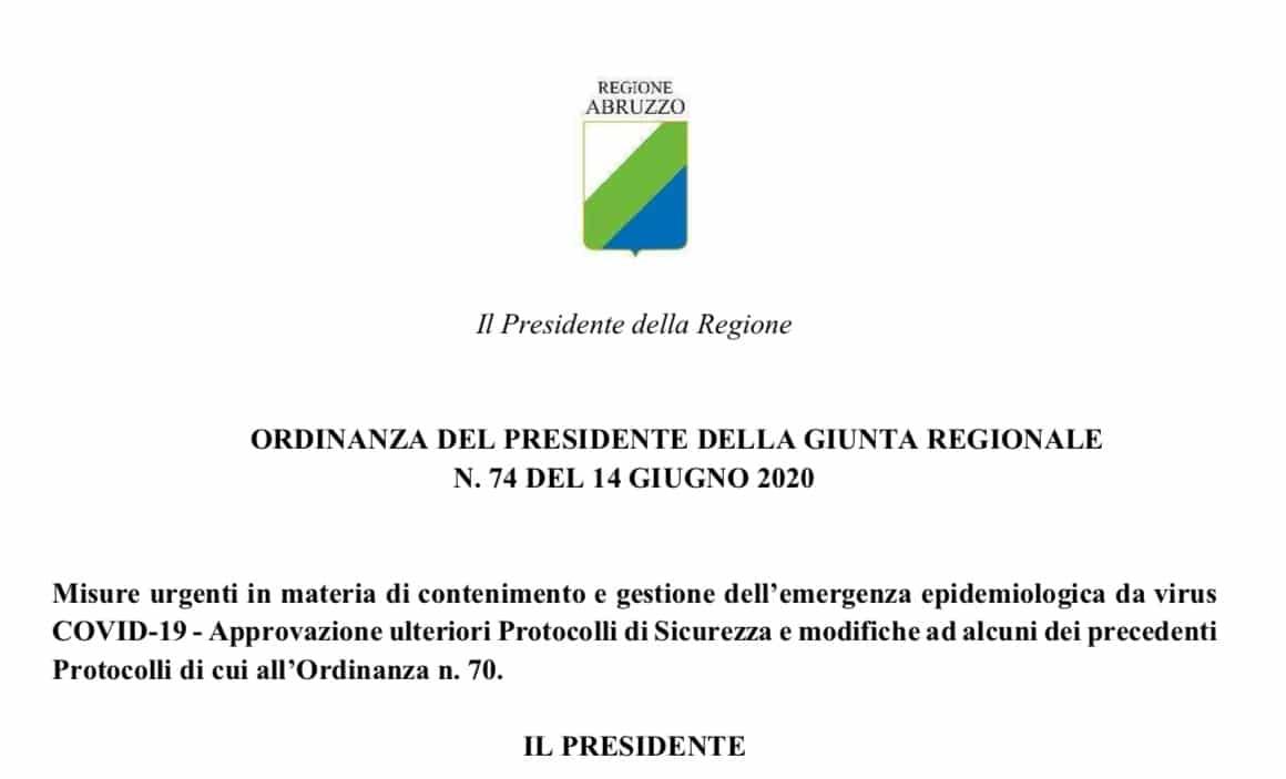 Abruzzo. Dal 15 giugno attività ISF nella massima sicurezza
