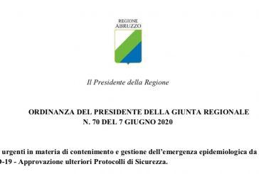 Regione Abruzzo. Attività ISF nella massima tutela sia dal rischio di contagio da nuovo coronavirus (utenti e lavoratori) sia dai rischi professionali