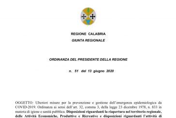 Calabria. Dal 15 giugno attività ISF secondo linee guida