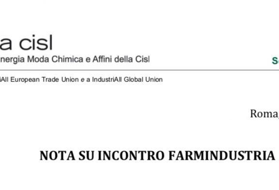 Femca. Incontro con Farmindustria.