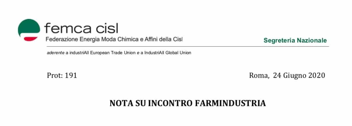 """Femca. Incontro con Farmindustria. """"La parte più colpita è quella dell'informazione scientifica"""""""