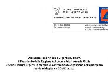 Friuli Venezia Giulia. Ripresa secondo linee guida