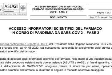 Friuli Venezia Giulia. Le norme per l'accesso degli ISF alle strutture ASUGI